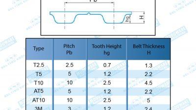 Metric Pitch Timing Belts