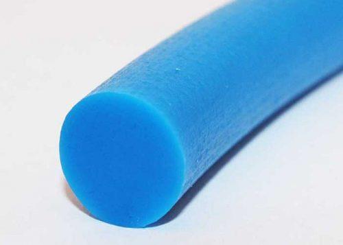 Polyurethane, rough texture, solid, round conveyor belt, blue