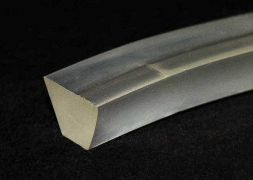 V-profile K Polyurethane material conveyor belt tracking profile, clear, solid structure