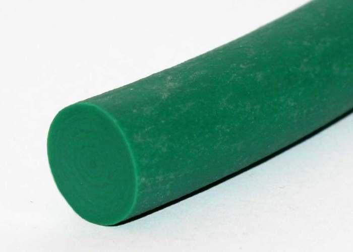 Polyurethane, rough texture, solid, round conveyor belt, green